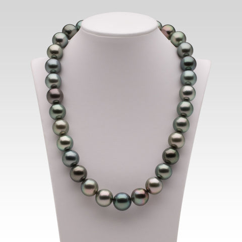 12-14.7mm Multi-coloured Tahitian Pearl Strand