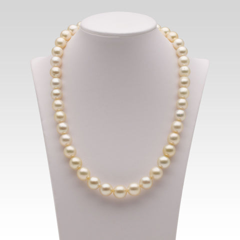 12.3-15.6mm Cream South Sea Pearl Strand