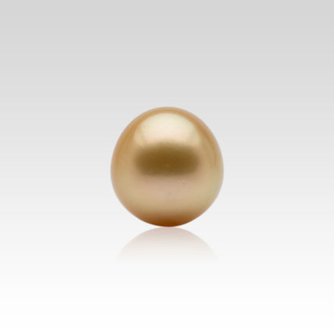 12.9-13.7mm Loose Oval Golden South Sea Pearl
