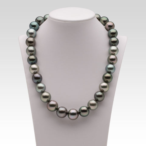 13-15.1mm Multi-coloured Tahitian Pearl Strand