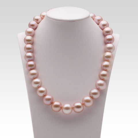 13-16mm Nucleated Pink Freshwater Pearl Strand
