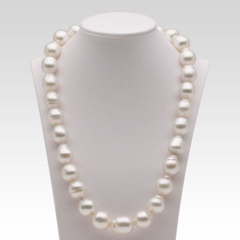 13.3-15.6mm Baroque White South Sea Pearl Strand