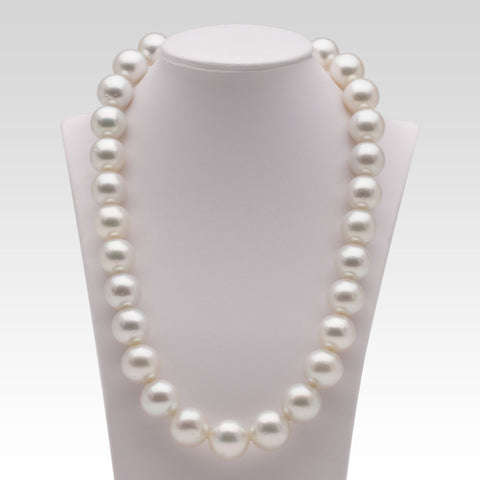 14.3-16.4mm White South Sea Pearl Strand
