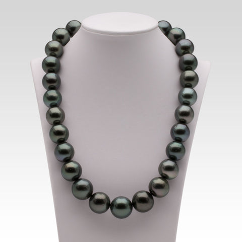 15-17.7mm Black Tahitian Pearl Strand