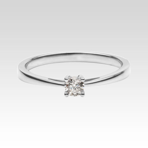 0.15ct Diamond Solitaire Ring