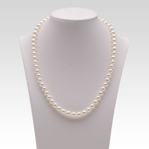 6.5-7mm White Freshwater Pearl Strands