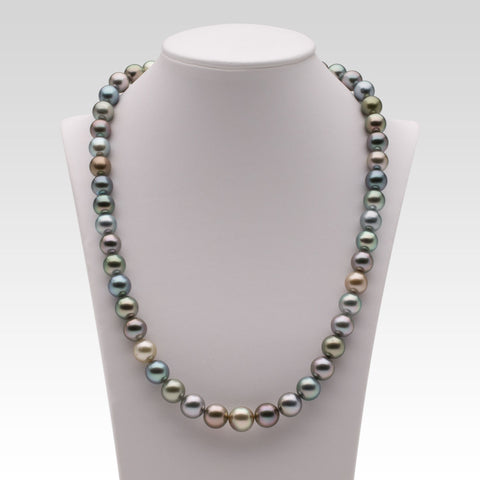 8-10mm Multi-coloured Tahitian Pearl Strand