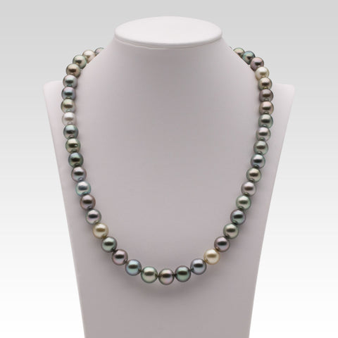 8-9.5mm Multi-coloured Tahitian Pearl Strand