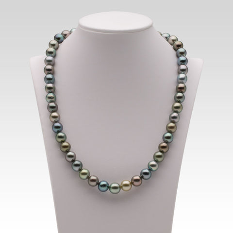 8.4-9.1mm Multi-coloured Tahitian Pearl Strand