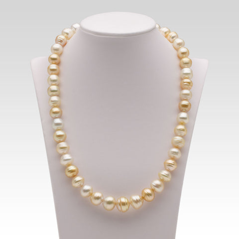 8.8-12.6mm Baroque Multi-coloured South Sea Pearl Strand