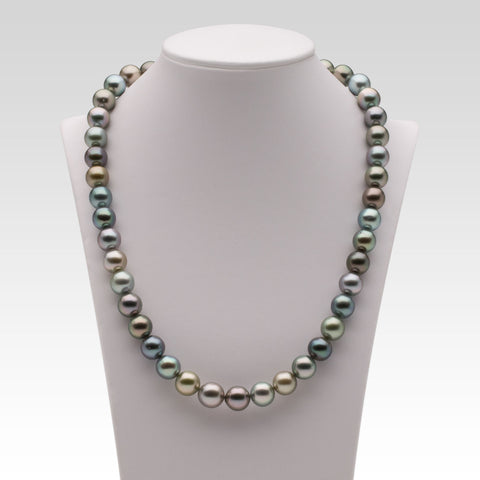 9-10.1mm Multi-coloured Tahitian Pearl Strand