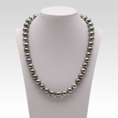 9.1-10.1mm Multi-coloured Tahitian Pearl Strand