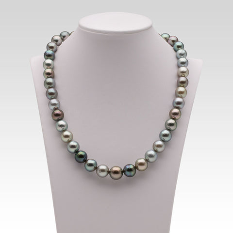 9.1-11.3mm Multi-coloured Tahitian Pearl Strand