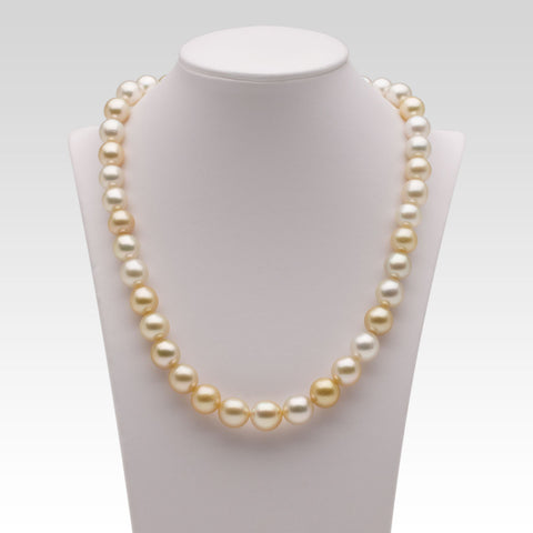 9.2-11mm Multi-coloured Golden South Sea Pearl Strand