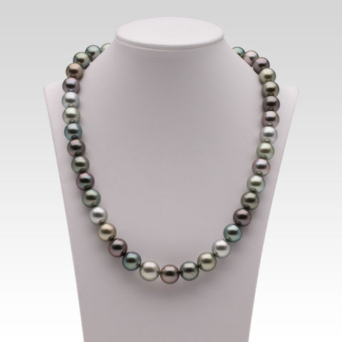 9.4-11.6mm Multi-coloured Tahitian Pearl Strand