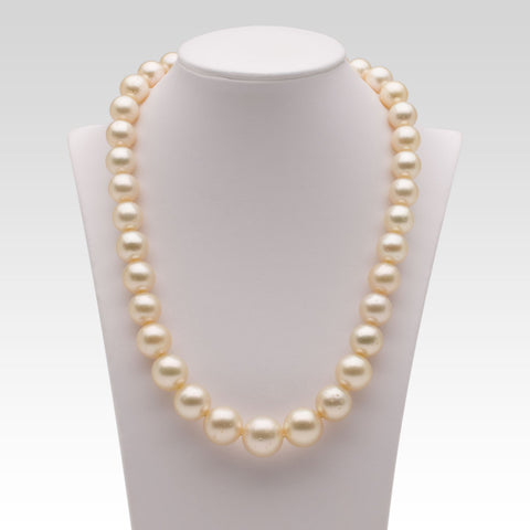 9.5-15mm Cream South Sea Pearl Strand