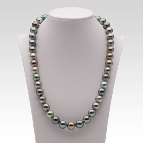 9.6-11.1mm Multi-coloured Tahitian Pearl Strand
