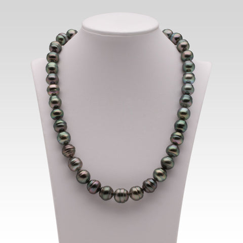 9.9-11.7mm Multi-coloured Tahitian Pearl Strand