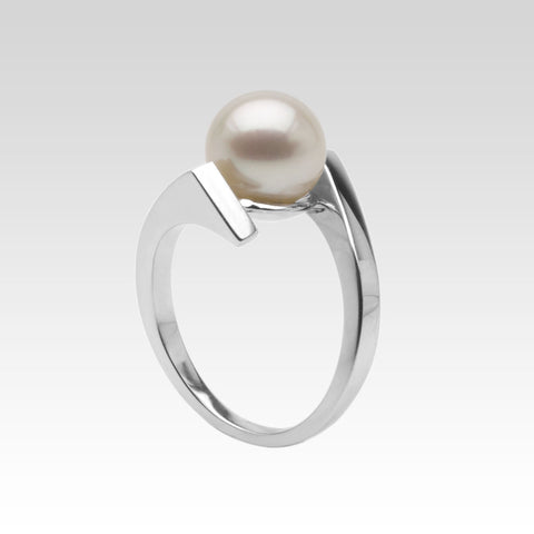 Orbit Silver Ring with Freshwater Pearl