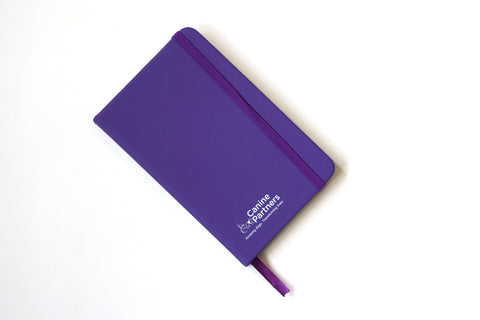 A6 purple notebook