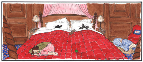 Dogs IN the bed...
