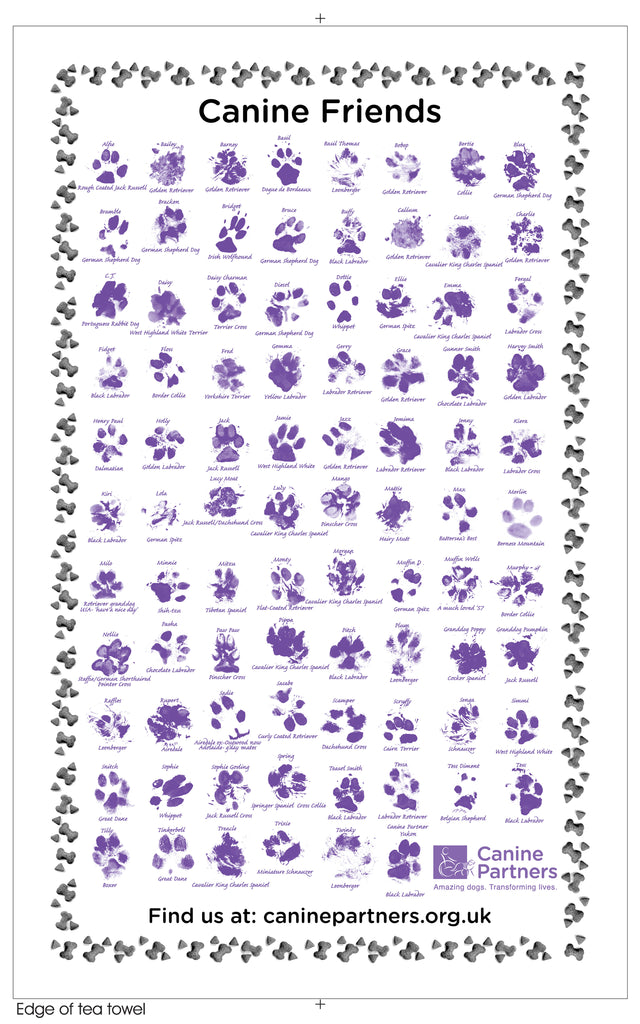 Canine Partners Tea Towel