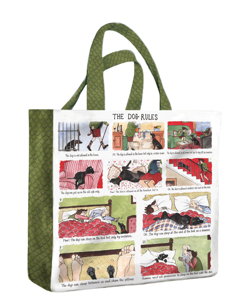 Tottering By Gently® PVC Medium Bag - 'The Dog Rules'