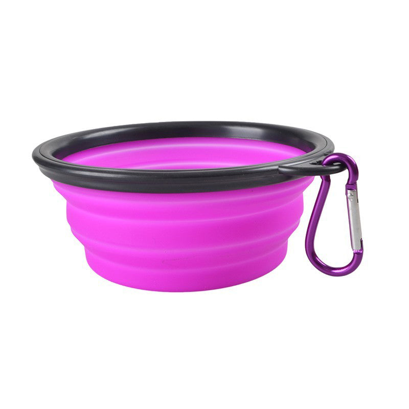 Pet Dog Silicone Collapsible Feeding Bowl