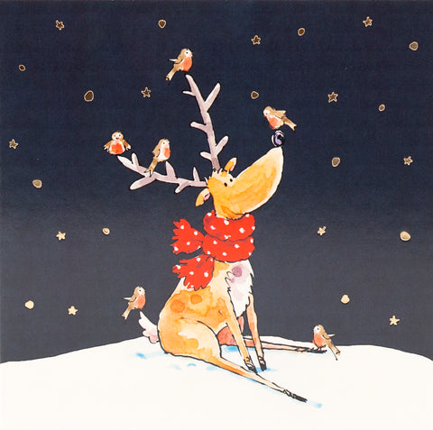 Christmas Cards - Reindeers and Robins