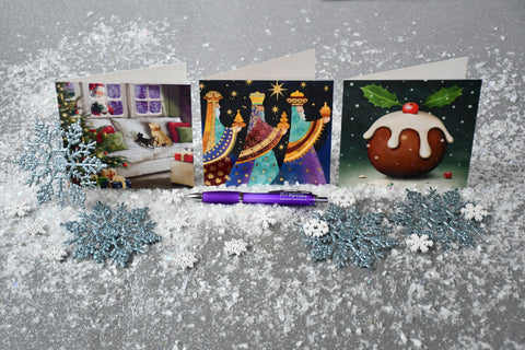 Santa paws Christmas cards value bundle