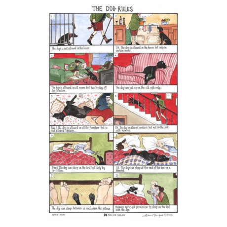 Tottering By Gently® Tea Towel - 'The Dog Rules'