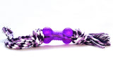 Bone and rope dog toy