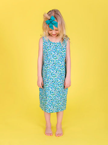 Lucky Last - Matilda dress - Meadow ditsy floral - size 1-2, 3- 4