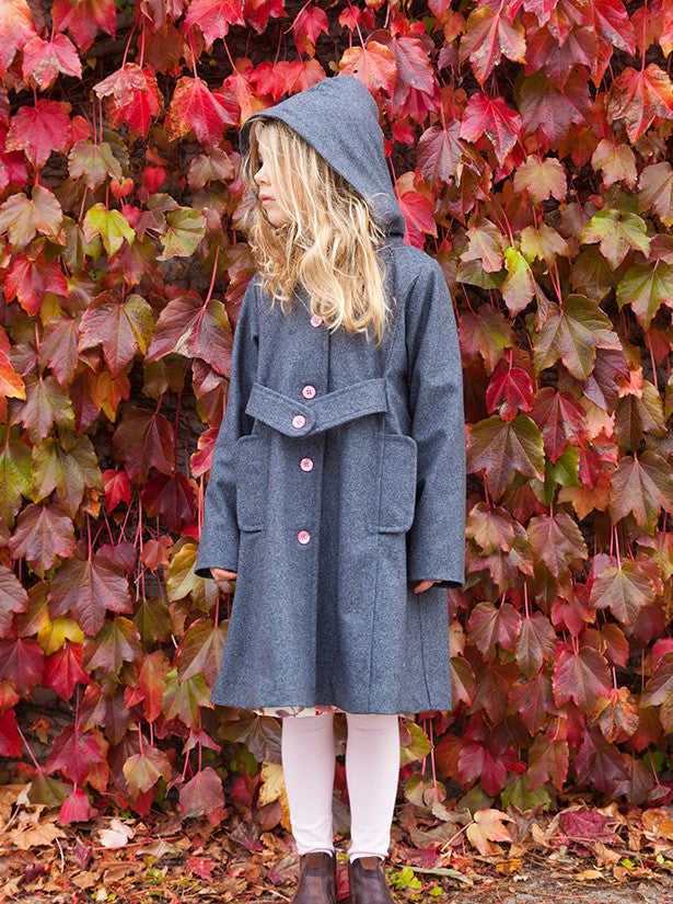 LUCKY LAST - Keepsake Coat - Ash Wool- size 3-4