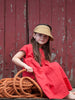 Lucky Last - Mon Dress – Red linen - sz1-2