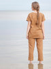 size S & XL LAST ONE - Tailored linen Pants - Nutmeg stripe