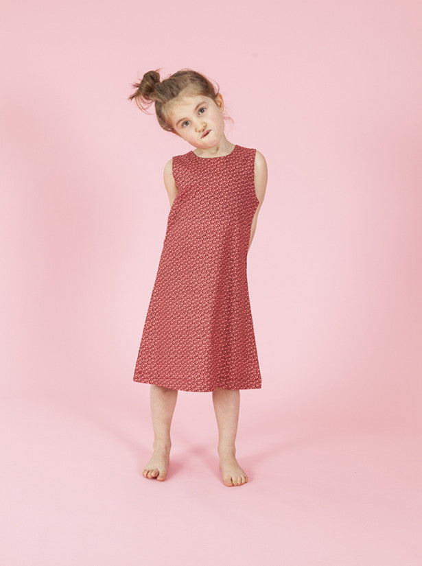 size 1-2 - Annie Aline Dress - Red Ditsy Floral