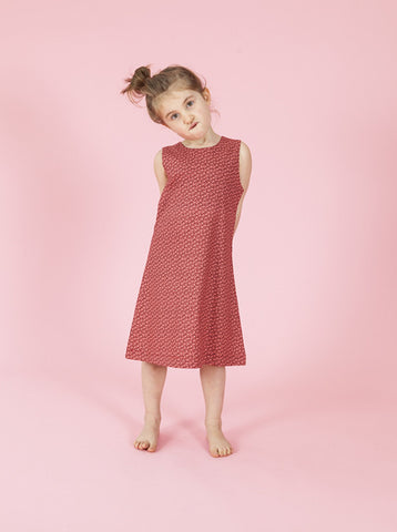size 1-2 LAST ONE - Annie Aline Dress - Red Ditsy Floral