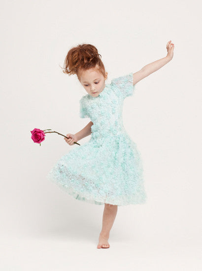 Lucky Last - Grace Flower Girl Dress - mint- size 1