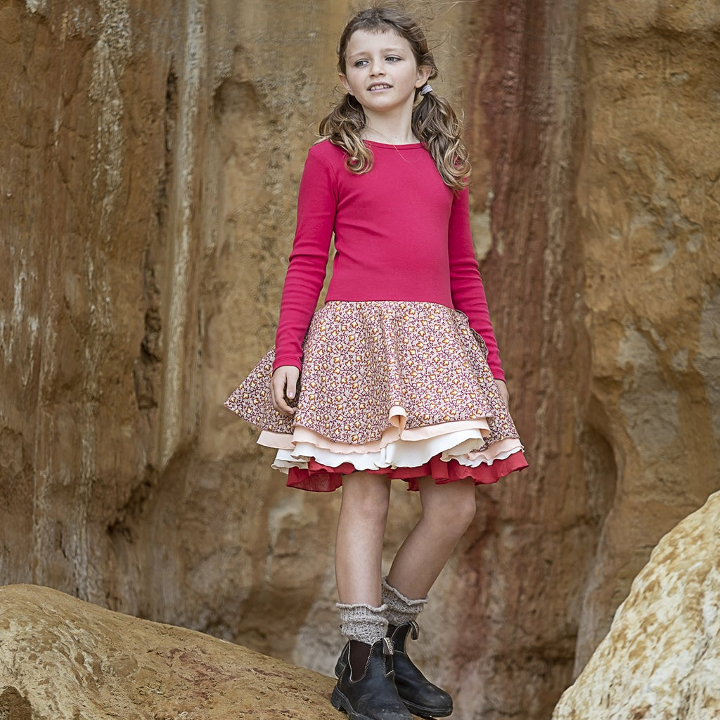 AW20 Tutu Dress – Red flowers
