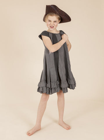 size 2,3 & 4, Ice Skating Dress - Charcoal Pigment Washed
