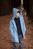 Treasure Coat (unisex) - Dusty Pale Blue wool