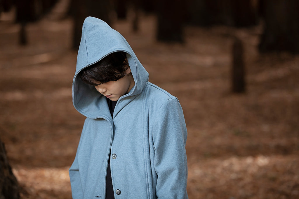 AW19 Kids - Treasure Coat - Dusty Pale Blue wool