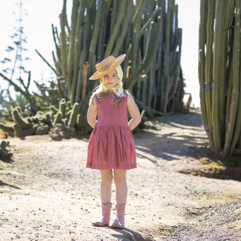 SS19 Girls - Lila Dress - Dusty Rose cotton