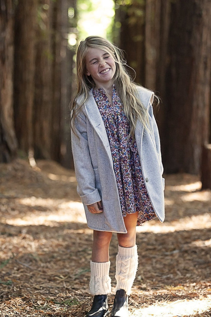 AW19 Kids - Treasure Coat - Pale grey wool