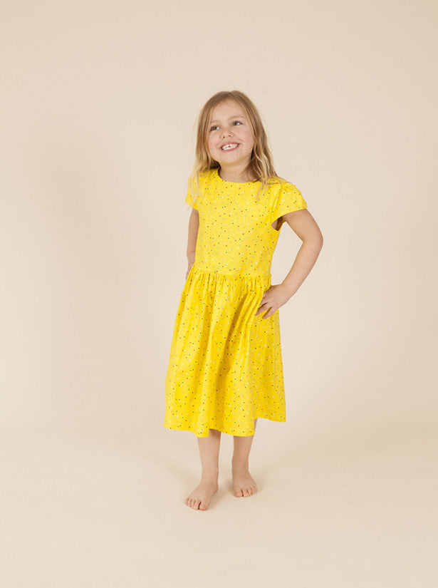 size 1-2 LAST ONE - Party Dress - Surprise Party Yellow