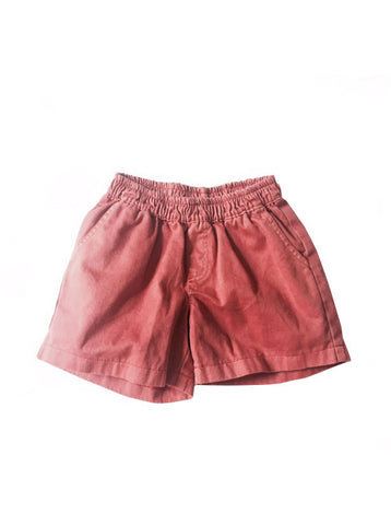 size 1,2 - Pigment Wash Charlie Shorts - Red