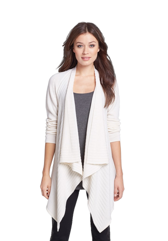 Engineered Rib Cashmere Cardigan