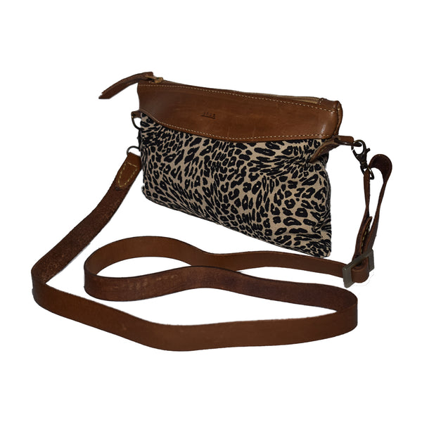 Afar Taitu Cross Body & Clutch Leopard