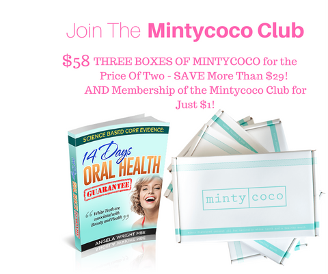 mintycoco Coconut Oil Pulling Sachets Mintycoco Advanced Oil Pulling Formula x3 SuperSaver & Mintycoco Club Membership coconut oil pulling therapy mouthwash shark tank noosa help stop gum disease get whiter teeth